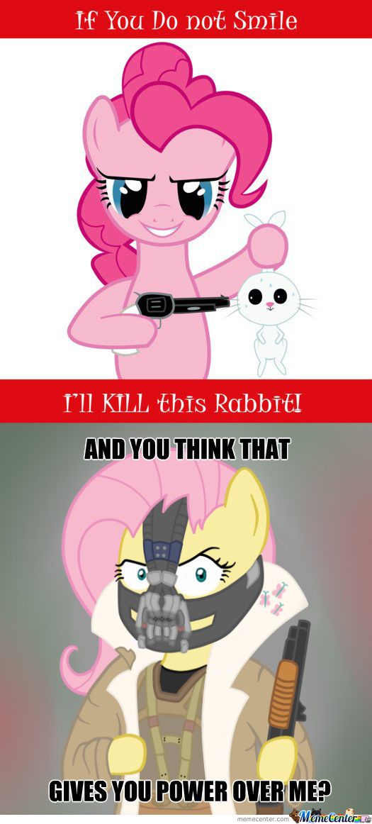 Pinkie Has Fluttershy's Rabbit Hostage!