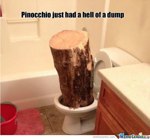 "Pinocchio ""was"" Constipated"