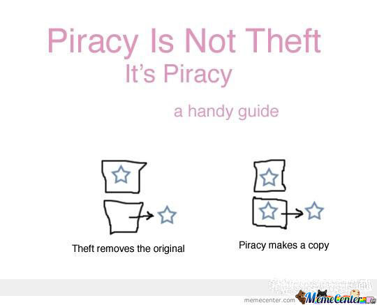 Piracy Isn't Theft