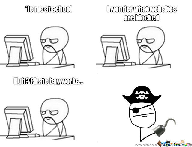 Pirate Works In School -_-