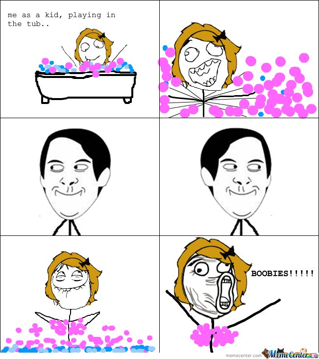 Playing in tub