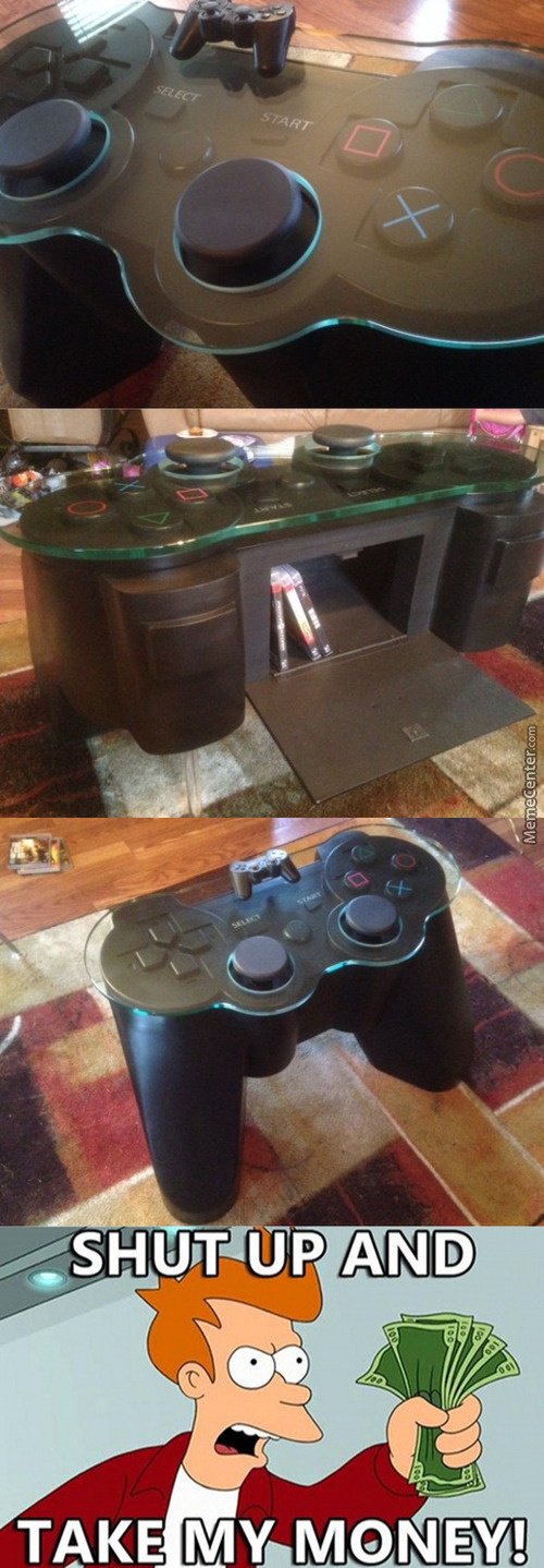 Playstation Controller Coffee Table!