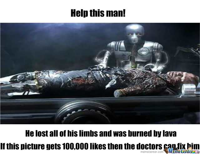 Please Like This So Vader Can Be Saved!