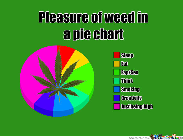 Pleasure Of Weed In A Pie Chart