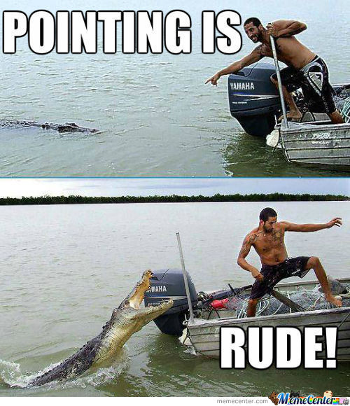 Pointing Is Rude!