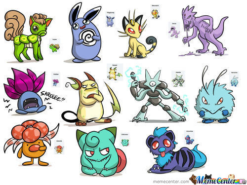 Pokefusion Drawings