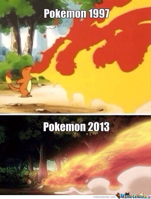 Pokemon - 1997 Vs 2013