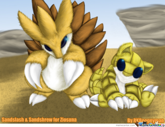 Pokemon - Sandslash & Sandshrew 4 Ziosuna