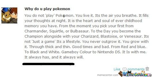 Pokemon. An Explanation.