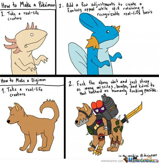 Pokemon And Digimon