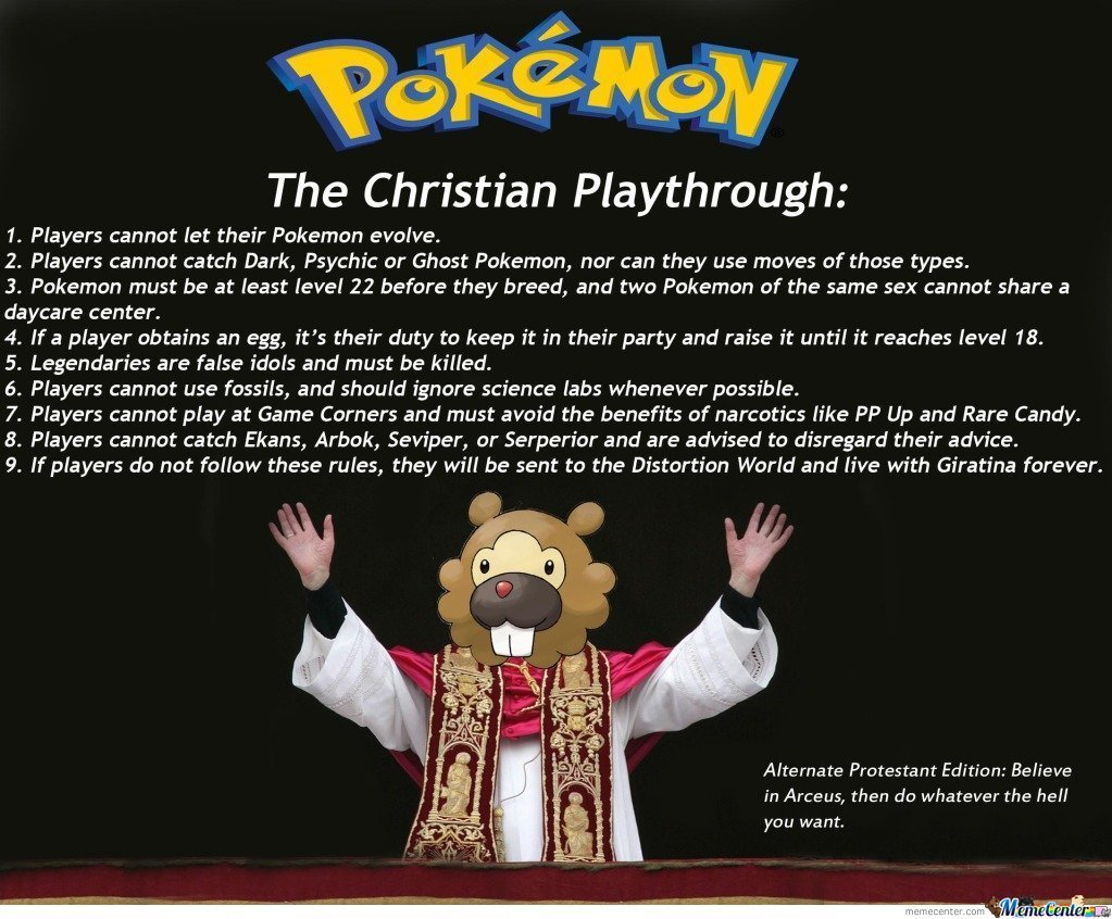 Pokemon: Christian(Catholic) Edition