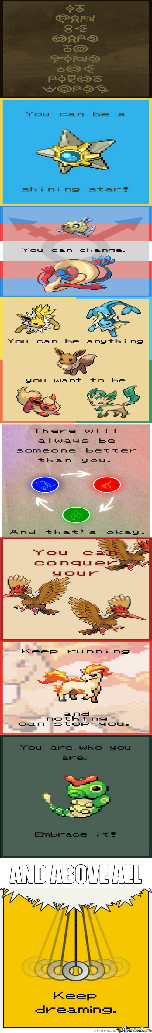 Pokemon Motivation.