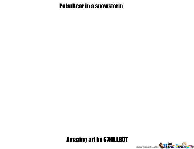 Polar Bear In A Snowstorm Art