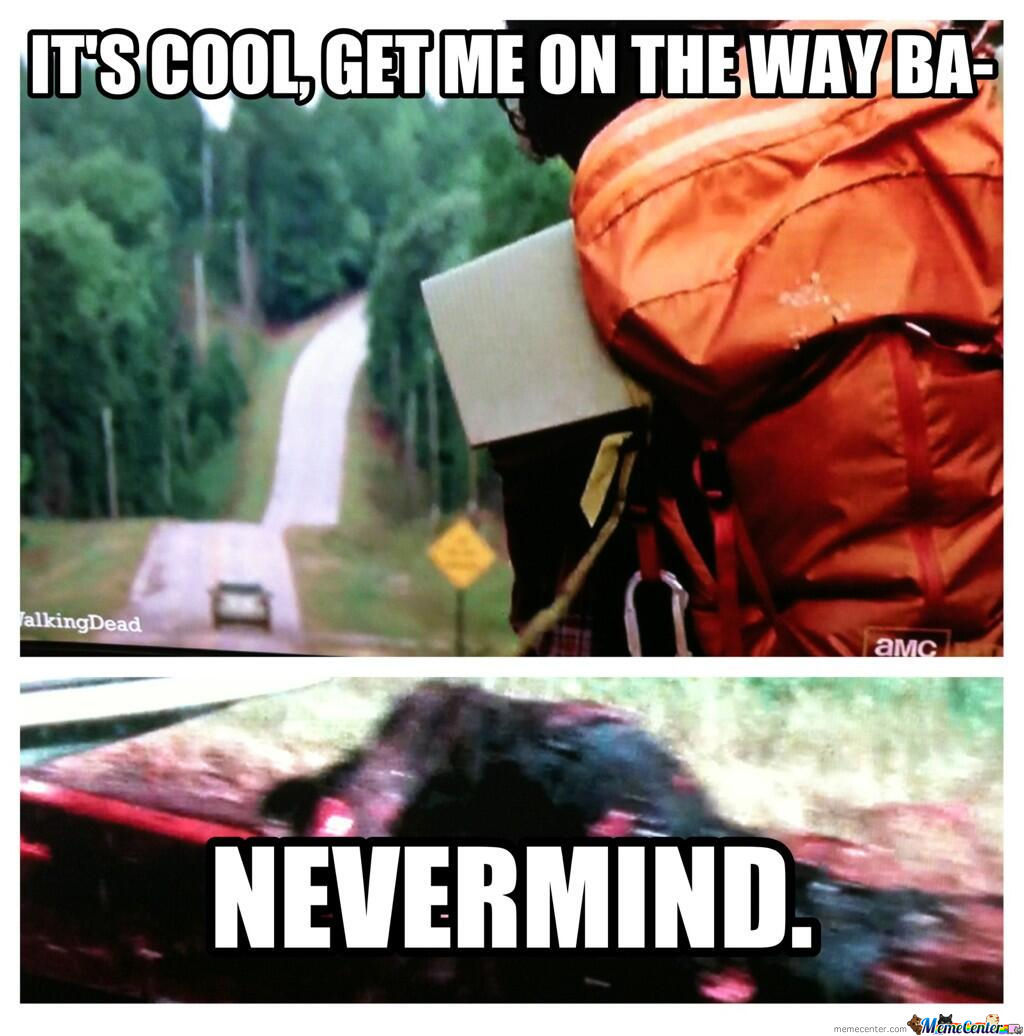 Poor Hitchhiker Guy...
