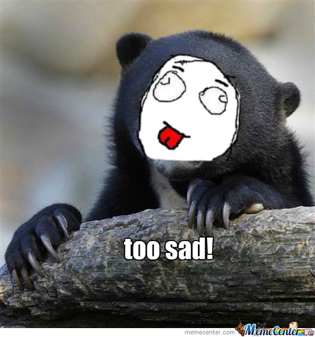 meme Sad bear