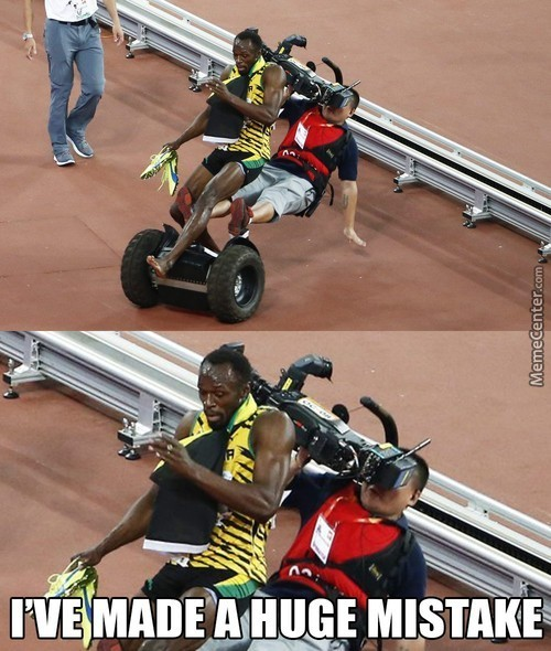Poor Usain Bolt