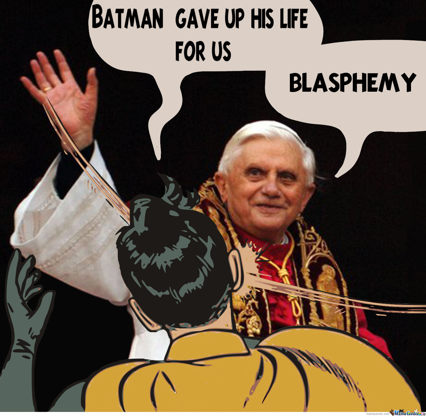 Pope Slapping Robin