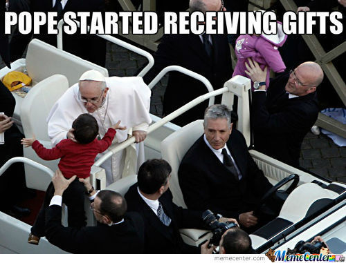 Pope Started Receiving Gifts