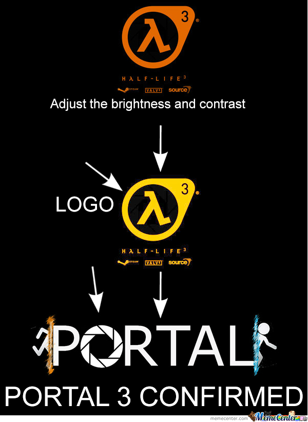 Portal 3 confirmed by xease meme center for 3 portals