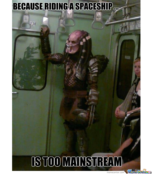 Predator Taking A Subway