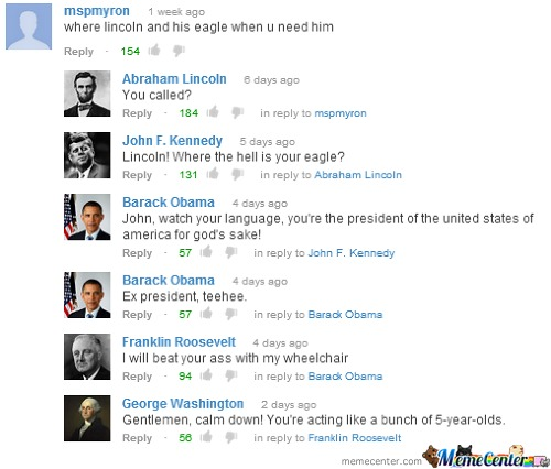 Presidents On Youtube
