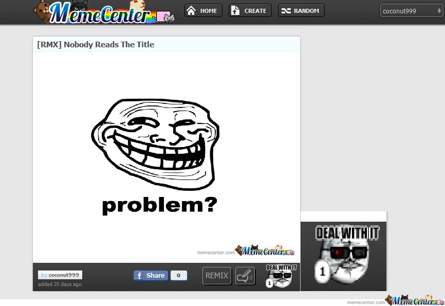 Problem Memecenter?
