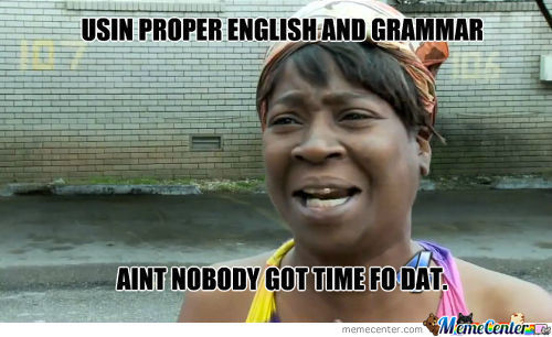 Proper English And Grammar