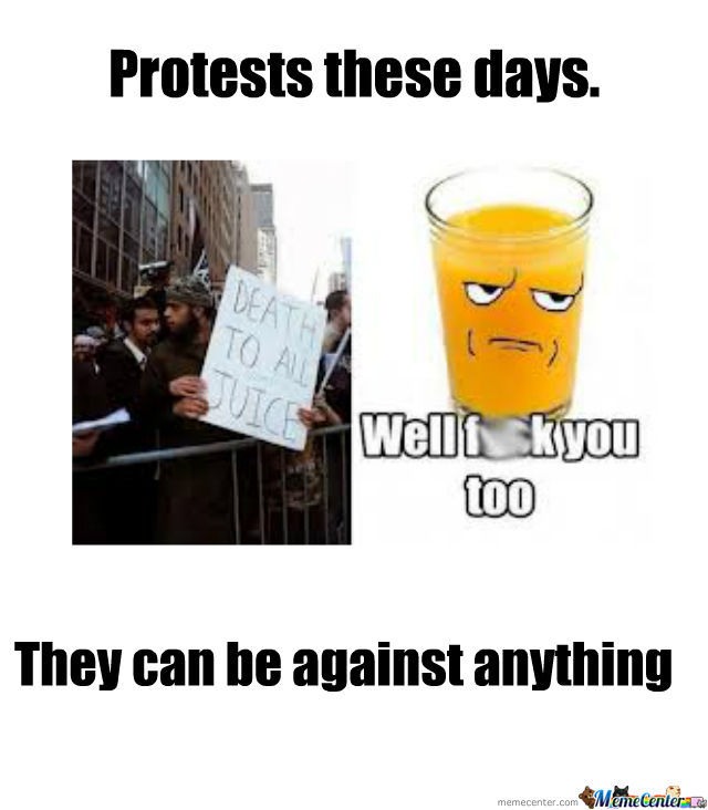 Protest Against Juice