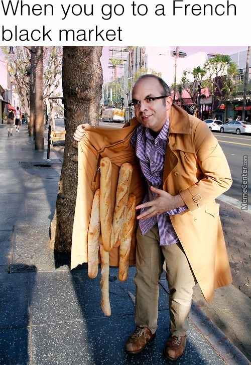 Psst,  Hey Kids, You Want Some Baguette ?