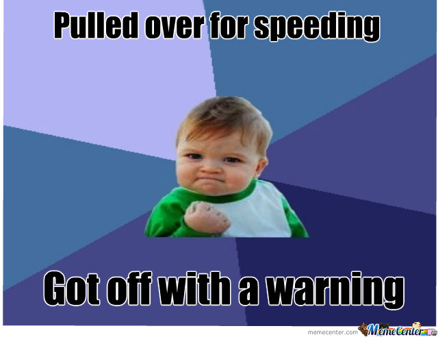 Pulled Over For Speeding