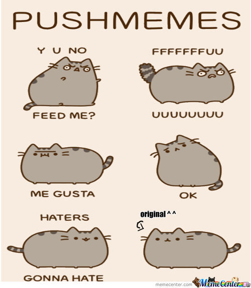 Pusheen Y U No Feed Me Pictures To Pin On Pinterest The Cat