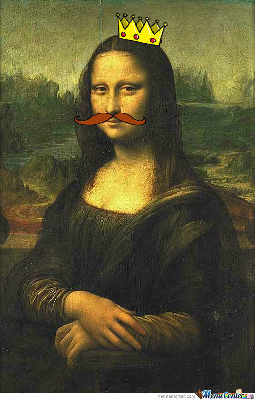 Queen Mustache Mona Lisa
