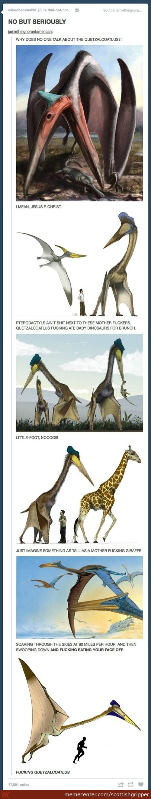 Quetzalcoatlus, The Biggest Nope In The Sky.
