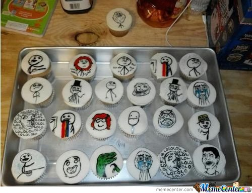 Rage Face Cupcakes
