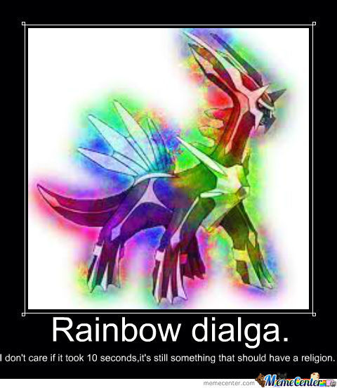 Rainbow Dialga Kicks Ass