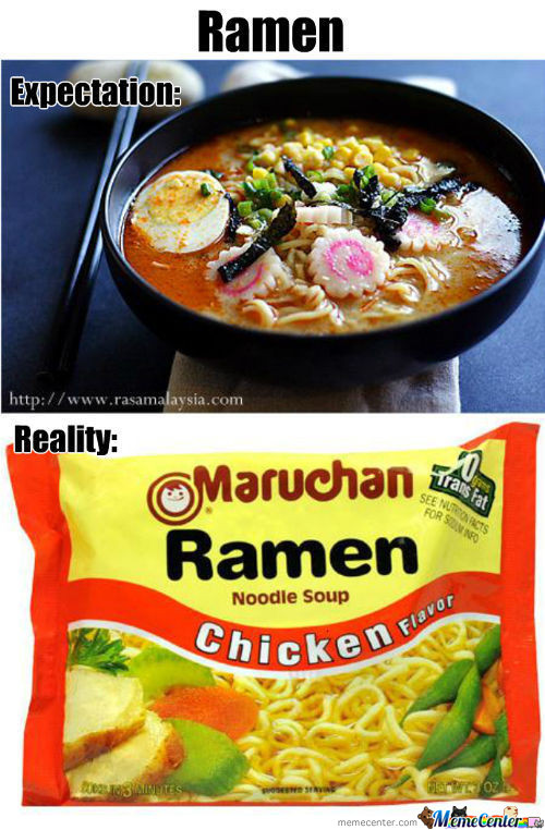 Ramen Noodle Reality Check