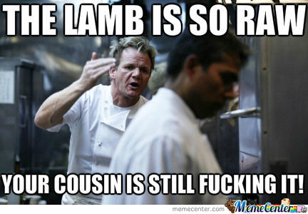 Ramsay And His Lamb Chop