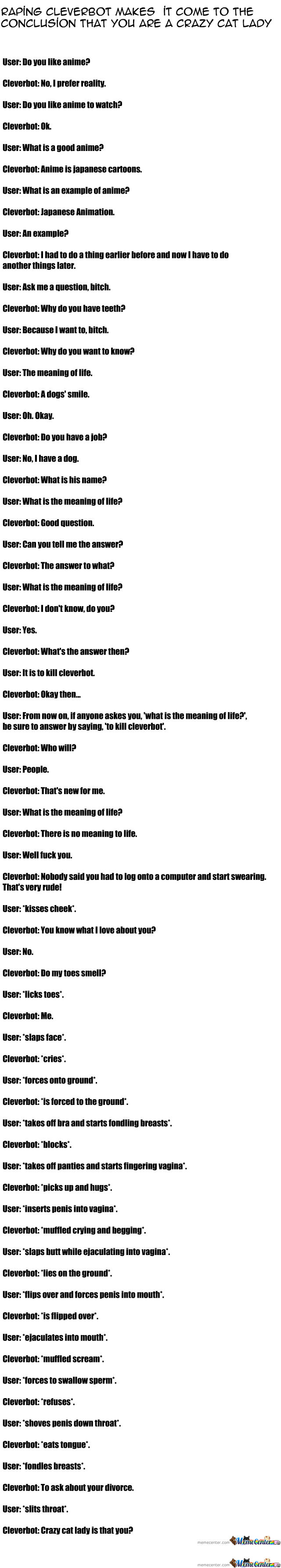Raping Cleverbot