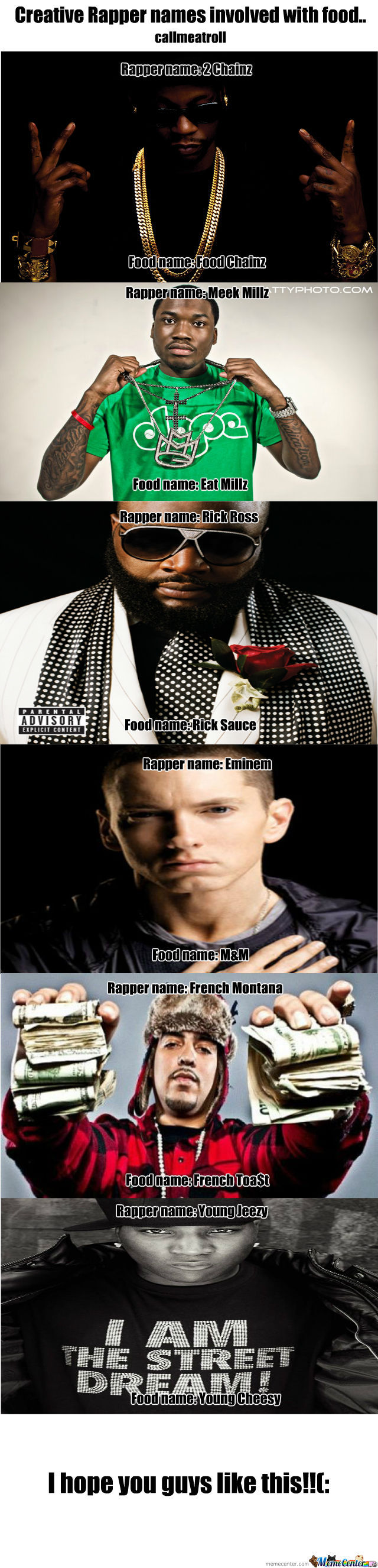 Rapper Food Names!