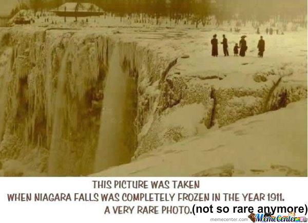Rare Photo Of Niagara Falls