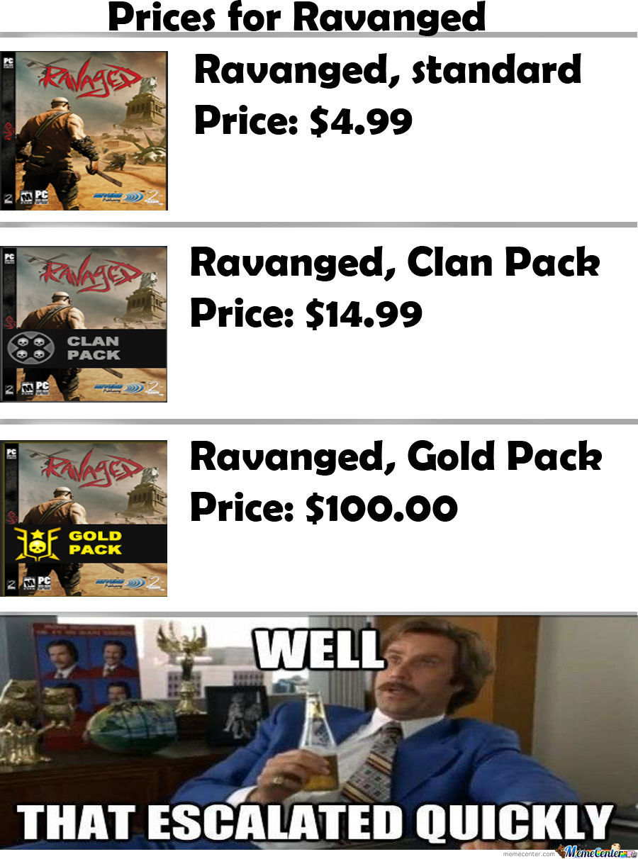 Ravange Prices Goes High!