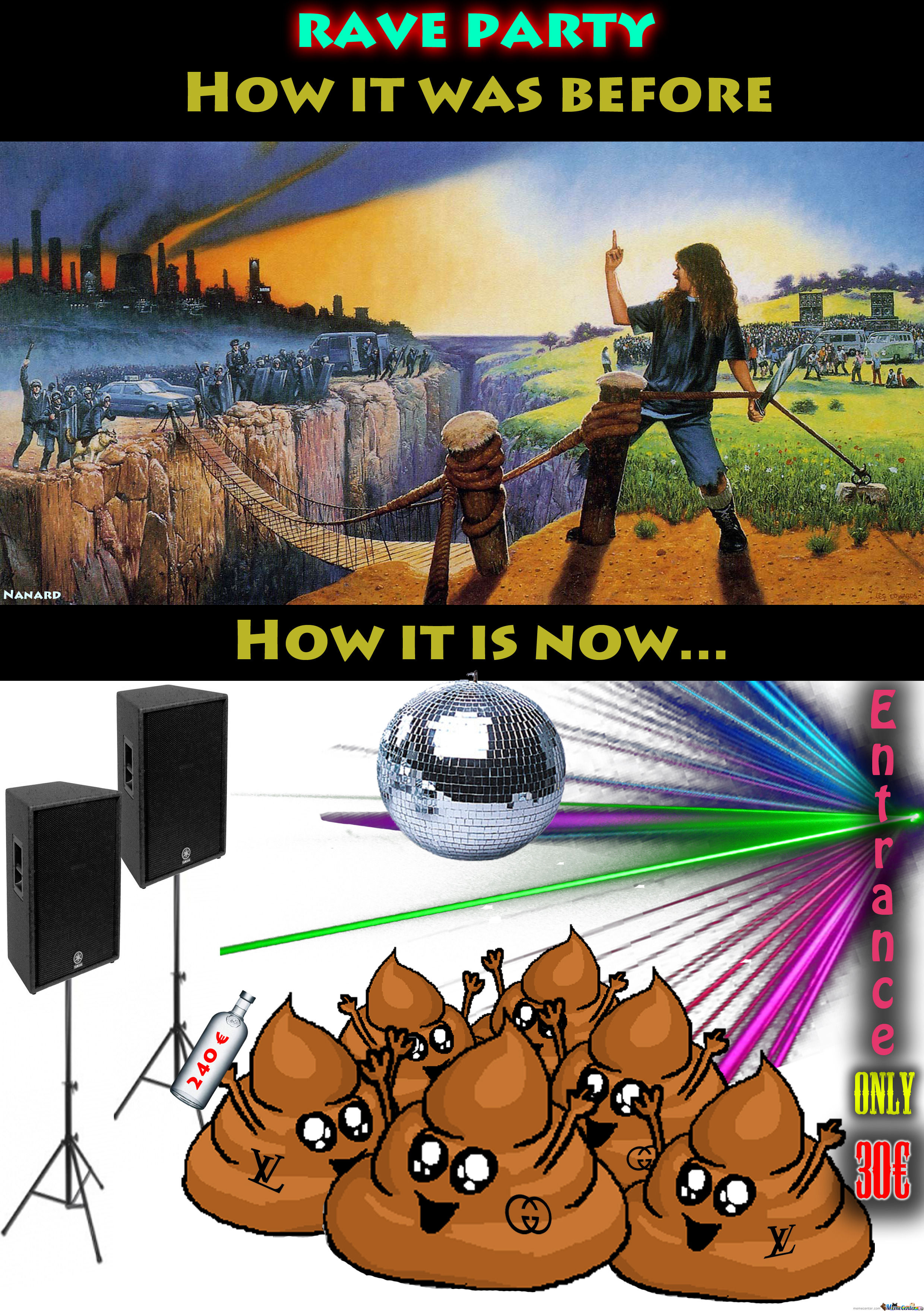 Rave Party - Before Vs Now