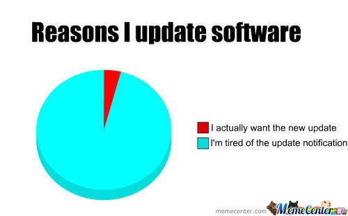 Reason I Update Software