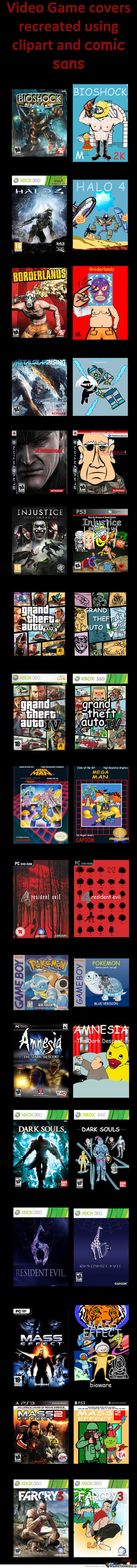 Recreated Video Game Covers