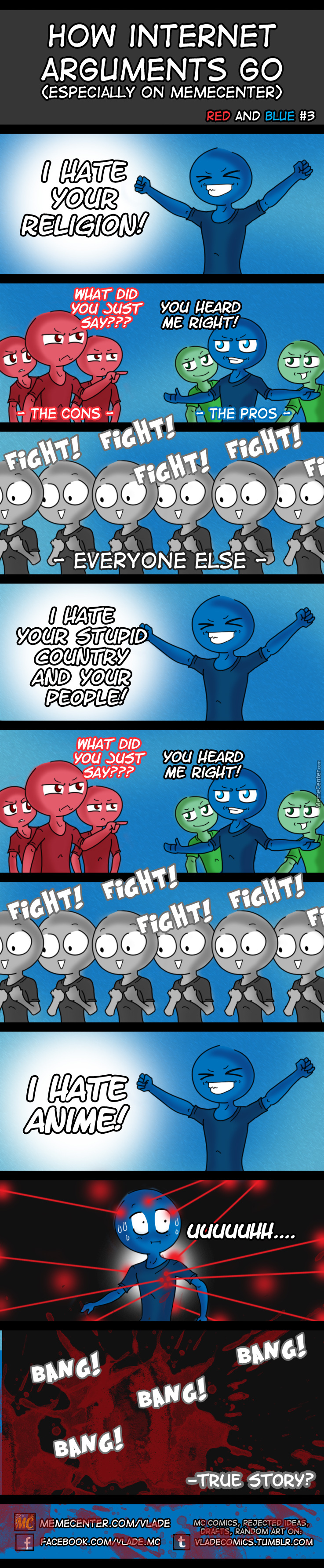 Red And Blue #3: Internet Arguments