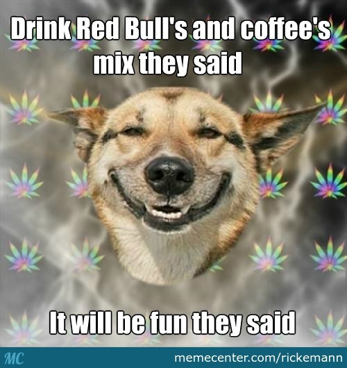 Red Bull's And Coffee's Mix
