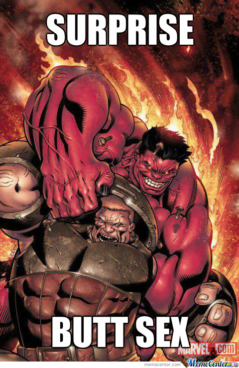Red-Hulk Surprised Juggernaut