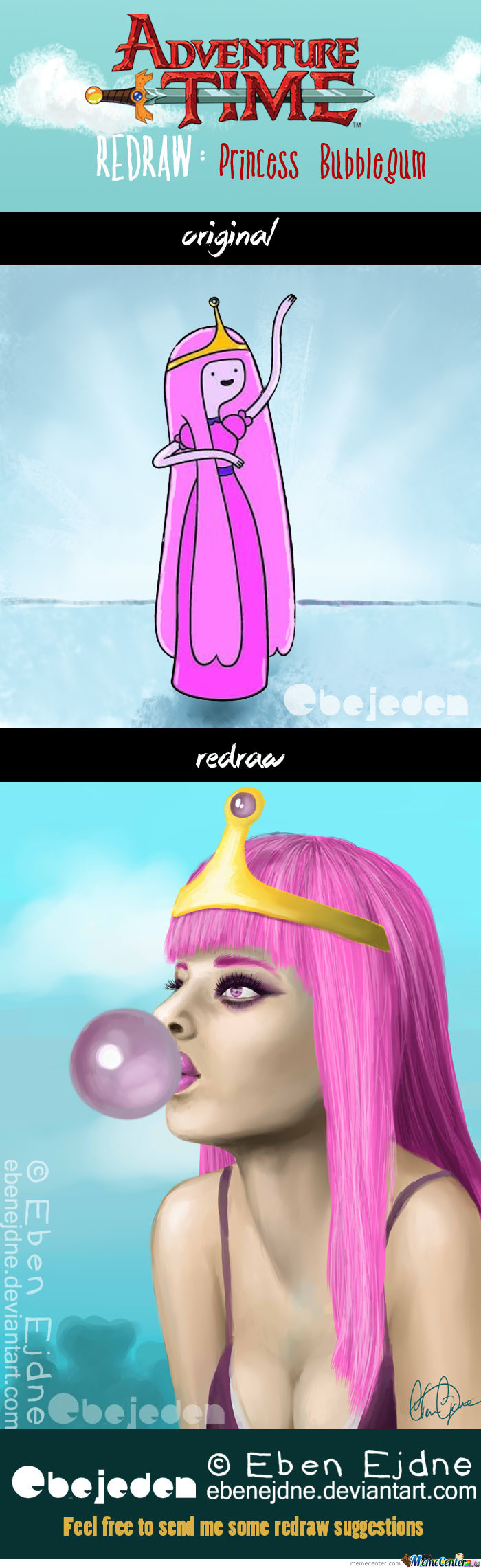 Redraw: Princess Bubblegum