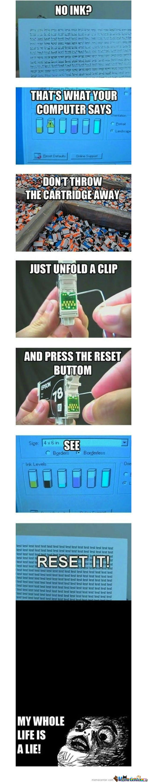 Printer Cartridge Reset