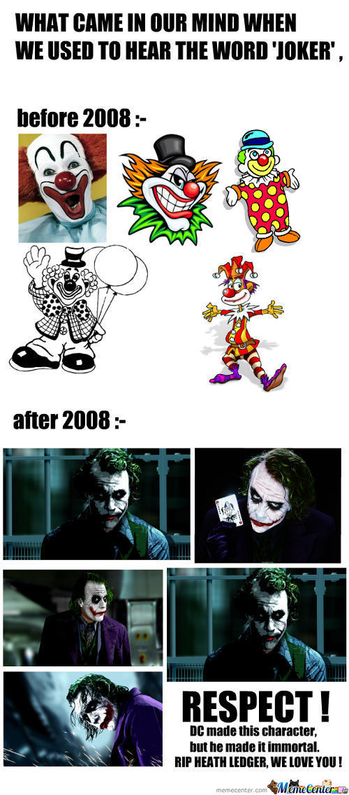 Respect To Heath Ledger - The Joker !